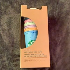 New in box Starbucks reusable hot cups